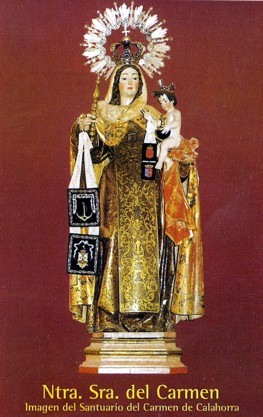 Ntra. Sra. del Carmen. Imagen del Santuario del Carmen de Calahorra