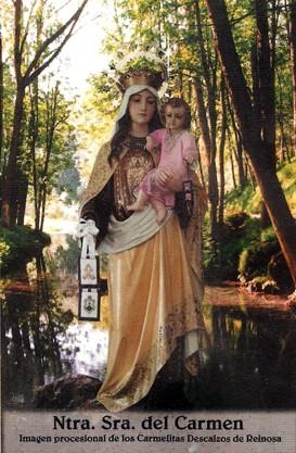 Ntra. Sra. del Carmen. Imagen Procesional de los Carmelitas Descalzos de Reinosa